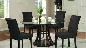 Office Kitchen Tables by Stunning Round Glass Dining Table Set With White Cabinet 3477