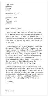 complaint letter sample formal letter samples