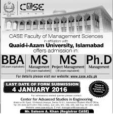 M S University by Bba Ms Management Ms Project Management Admission In Quaid I