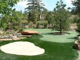 Artificial Backyard Putting Green by Golf Putting Greens Portland Oregon