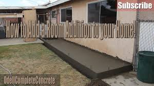 how to setup and pour a concrete foundation for rooms addition and