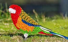 Parrot Decorations Home Quilling Artwork Hand Made Easy Making Beautiful Parrot Youtube