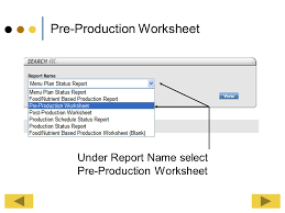 report printing pre production worksheet ppt download