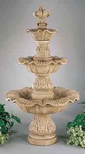 3 tier renaissance concrete indoor outdoor fountains