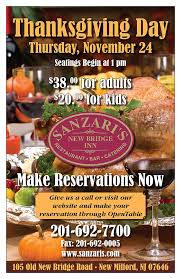 the best restaurant for thanksgiving dinner in bergen county