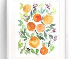 Tangerine Home Decor Tangerine Wall Art Etsy
