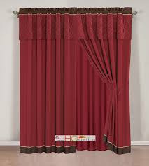 Sheer Maroon Curtains Burgundy Sheer Scarf Valance