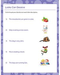 looks can deceive free 1st grade reading worksheets jumpstart