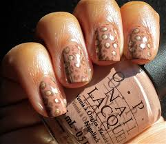 neutral leopard nails something polished
