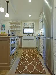 kitchen style victorian light brown rug white open shelves white