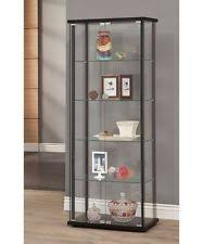 small curio cabinet with glass doors glass curio cabinet ebay