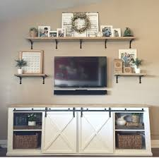 barn door entertainment center similar concept for entertainment