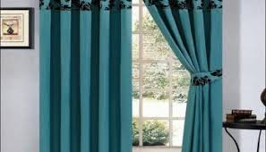 Teal Damask Curtains Teal And Black Curtains My Room