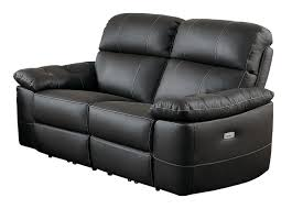 Power Reclining Sofa And Loveseat Sets Niscasio Dark Brown Leather Power Reclining Sofa U0026 Loveseat Set