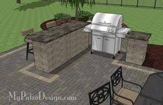 Backyard Brick Patio Design With Grill Station Seating Wall And by Creative Brick Patio Design With Pergola Tub Seat Walls And