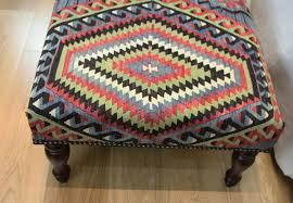 furniture r7598 hand woven kilim ottoman stool table 4409