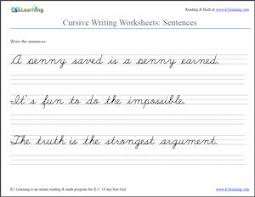 awesome collection of 3rd grade cursive writing worksheets in