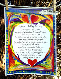 blessings for weddings apache wedding blessing 8x11 inspirational quote groom