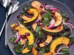 roasted kabocha and kale salad recipe cooking light