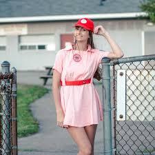Rockford Peach Halloween Costume Rockford Peaches Aagpbl Pink Baseball Womens Costume Dress