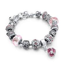 charm bracelet european images European style authentic tibetan silver blue crystal charm jpg