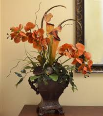 faux orchids rust phalaenopsis faux orchids with pitcher plant o149 floral