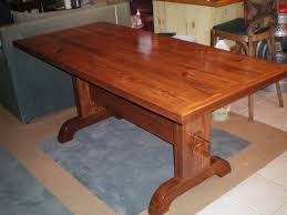 Amazing Diy Table Free Downloadable Plans by Download Build A Trestle Table Adhome