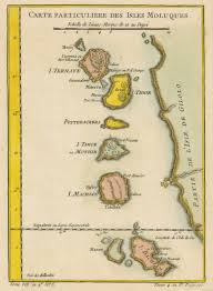 European Exploration Map Spice Islands Historic Maps