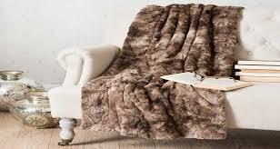 plaids fausse fourrure pour canapé plaid canape maison du monde survl com