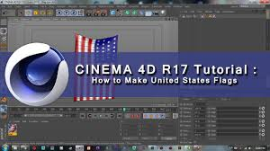How To Draw A Waving Flag Cinema 4d R17 Tutorial How To Make United States Flags In Cinema