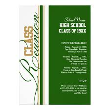 high school reunion invites personalized gold high school reunion invitations
