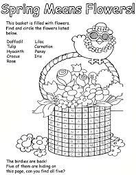 spring flower coloring pages getcoloringpages com