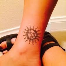simple sun and moon tattoos on wrist tatuagem