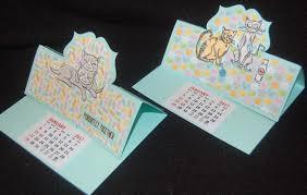 s craft cat thank you calendar cards