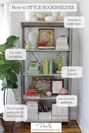 how to decorate a bookshelf how to style a bookshelf