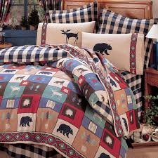 Cabin Bed Sets Amazing Rustic Cabin Comforter Sets 78 For Your Black And White