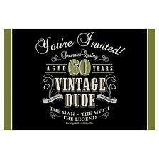 8ct vintage dude 60th birthday invitations target