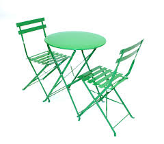 green metal outdoor table green metal folding bistro table chair sets for hire be event hire