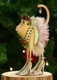 cat ornaments and figures