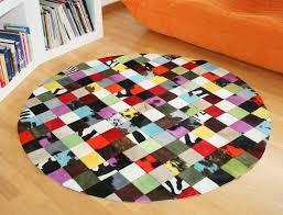 Tapis Salon Multicolore tapis patchwork elmer en peau de vache multicolore peaudevache com