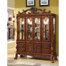 Furniture Of America Formal Dining Set Antique Oak Finish - Oak dining room sets with hutch