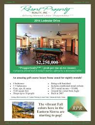 Mammoth Luxury Home Rentals by Propportunities Mammoth Lakes Real Estate Listings Resort
