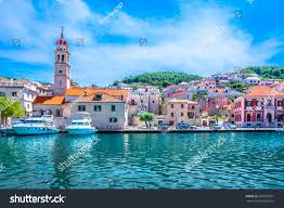 scenic view mediterranean town on island stock photo 556509301