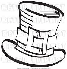 royalty free retro vector clip art of a leprechaun top hat by andy