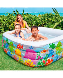 Intex Inflatable Pool Intex Swim Center Clearview Aquarium Inflatable Pool