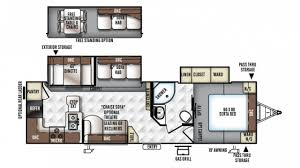 Rockwood Trailers Floor Plans 2018 Forest River Rockwood Ultra Lite 2902ws Model