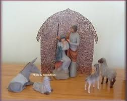 holy family shelter animals nativity set from willow tree free