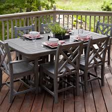 polywood chippendale 7 piece recycled plastic wood patio dining