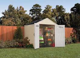 rubbermaid 7x7 feet x large outdoor storage shed best sheds 10