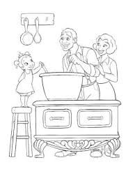 qui fait la cuisine coloriage et papa font la cuisine